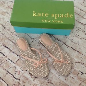 """Kate Spade """"Mistic"""" flip flops with bow"""